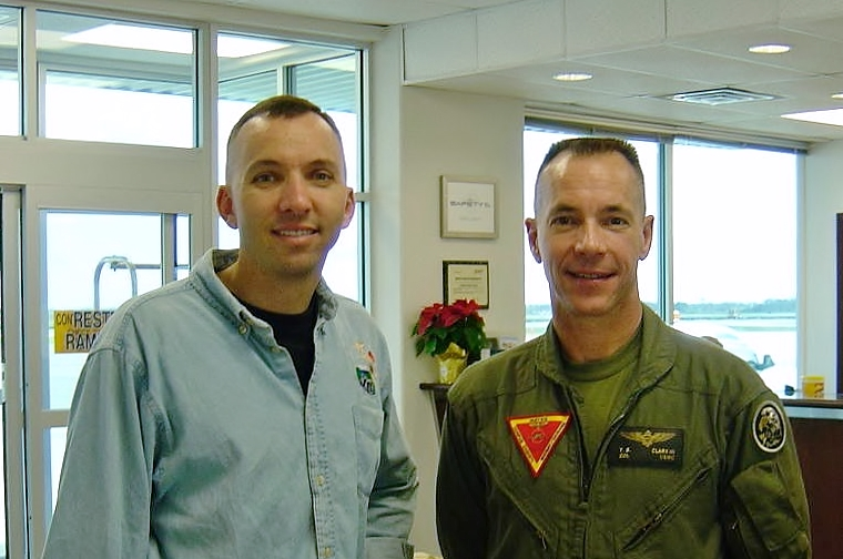 Col. Randy Bresnik with Citadel alumnus, Col. Tom Clark